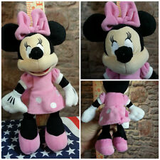 Minnie Mouse Disney Plush - 10 Inch Tall - Pink Dress - Pink Bow - Pink Shoes