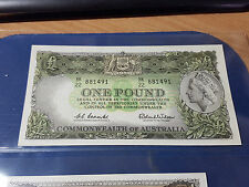 Commonwealth of Australia £1 ONE POUND Banknote HK22 Coombs Wilson Pick 34a Unc