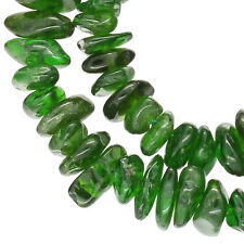 "16"" Emerald Green Russian Diopside Nugget Chip Beads ap.5-9mm #85443"