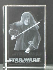 CLARISSO STAR WARS ROTS EMPEROR PALPATINE 3D LASER ENGRAVED ETCHED CRYSTAL