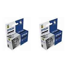 2 Pack Epson T015 Black Genuine Ink Cartridges T015201 for Stylus Photo 2000P