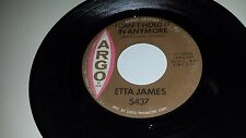 ETTA JAMES I Can't Hold It In Anymore / Pushover ARGO 5437 SOUL 45 7""