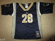 Marshall Faulk #28 St. Louis Rams Reebok NFL Jersey Toddler M 5-6 6T