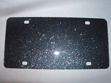 "Blank Black Sparkle Acrylic License Plates 12"" x 6"" (wholesale)"