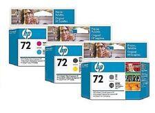 3x HP 72 TÊTES D'IMPRESSION DESIGNJET T610 T770 T790 T1100 C9380A C9383A C9384A