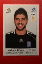 Panini EURO 2012 N. 85 HELLAS SIFAKIS NEW With BLACK BACK TOPMINT!!