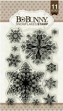 SNOWFLAKES Winter Snow Clear Unmounted Rubber Stamps Set BOBUNNY 12105156 New