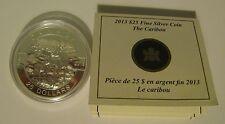 2013 Proof $25 O Canada #4-Caribou 1oz .9999 silver COIN & COA ONLY