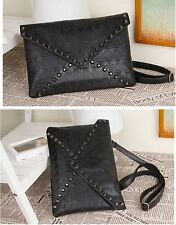 Women Lady Bags Skull Clutch Crossbody Punk Brand Handbags Purse Black CHIC FW