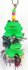 1085 Duo Frog Plucker Bird Toy parrot cage toys cages cockatiel parakeet conure