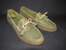 Sebago  Docksides Boat,  Dress, and Casual Shoes Green Women's 7.5 M