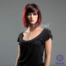 new fashion girls women bob Short straight red black wig hair ladies cosplay