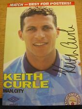 1990's Autograph: Manchester City - Curle, Keith [Hand Signed Magazine Image, Ap