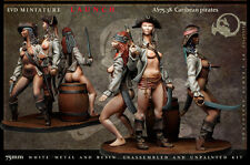Caribean Pirates 75mm 3 Figuren El Viejo Dragon Miniaturas Pin Pup AS75.38