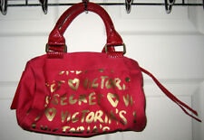 Victoria's Secret Garden Ravishing Love Dark Red Monogram Bag