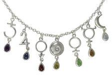 Sterling Silver Alchemical Universe Planetary Symbols Necklace Astrology Jewelry