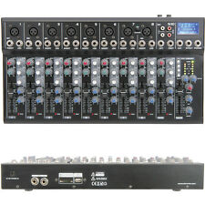 10 Channel PA/DJ Karaoke Mixer–USB/SD Effects Recording FX loop Delay Cross Fade