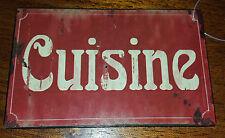 """Plaque style ancienne plaque emaillée enseigne de porte """"cuisine"""""""