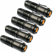 5 x 300LM Zoombar CREE Q5 LED Fokus Taschenlampe Lampe Torch Licht AA/14500