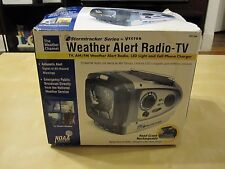 The Weather Channel Weather alert Radio-TV Stormtracker Led Light Hand Crank