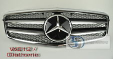 2010~2012 W212 Mercedes E Class E350 E550 Grill grille DISTRONIC + Hood Badge