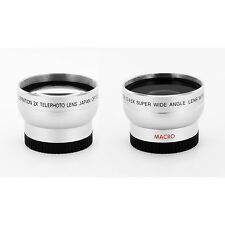 TELE + WIDE ANGLE LENS KIT FOR Sony HDR-SR10E,SR1E,UX1DCR-SR42,SR45,SR62,DCR-PC5