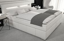 Boxspringbett 180x200 Bett Kunstleder LED Polsterbett Designerbett Doppelbett