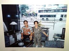 Vintage 80s Photo Hong Kong China Vacation Couple Hotel Lobby Street Lights Bus