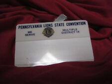 Lions Club Pin Name Tag Pa Lions State Convention we Serve District 14