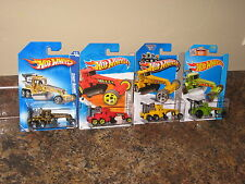 Hot Wheels Lot of 4 Street Cleaver Road Grader Gold Yellow Red Green Rare VHTF