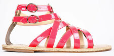 Christian Louboutin Men's Pink Nuria Uomo Flat Patent Leather Sandals 45 12 $645