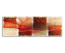 150x50cm image panoramique paul sinus art abstrait rouge marron orange crème salon
