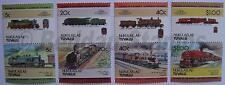 1984 NUKULAELAE Set #2 Train Locomotive Railway Stamps (Leaders of the World)