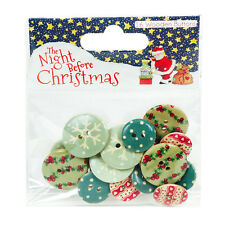 Helz Cuppleditch The Night Before Christmas Wooden Buttons for cards and crafts
