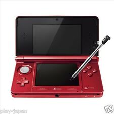 Exc Nintendo 3DS Flare Red System Console with Battery & SD Card Japanese ver.