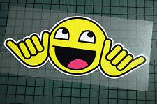 HAPPY SMILEY Sticker Decal Vinyl JDM Euro Drift Lowered illest Fatlace Vdub