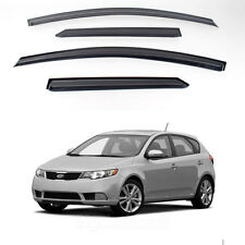 New Smoke Window Vent Visors Rain Guards for Kia Forte 5Door 2010 - 2012