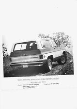 "USA Chevrolet Blazer UK Press Photo 1977 per 1978 ""brochure"" correlati"