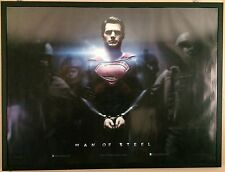 MAN OF STEEL, Russell Crowe, Henry Cavill, ORIGINAL QUAD CINEMA POSTER