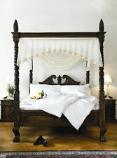 BESPOKE  Super King Queen Anne Style four poster st james mahogany canopy bed