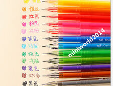 12pcs Fashion Korean Creative Stationery Candy Crystal Gel Pen-0.5mm,12 Colors