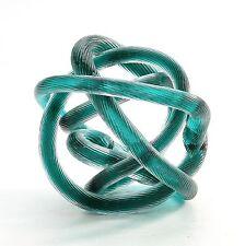 """New 6"""" Hand Blown Art Glass Knot Sculpture Figurine Abstract Green"""