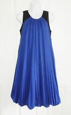 Iceberg Italian Statement Designer Mohair + Wool Pleated Tent Dress Size 10