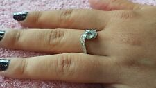 Sterling Silver Blue Topaz Ring by AVON Size 7