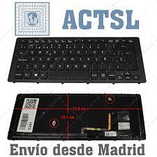 Teclado Español para Sony VAIO SVF15A1S9RB BLACK FRAME WITH BLACKLIT