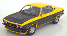 1975 Opel Manta A TE2800 Yellow/Matt Black by BoS Models LE of 1000 1/18 Rare!