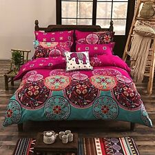 Floral Duvet Tapestry Cover Set Boho Indian Mandala Exotic Pattern SUPERKING P#1