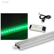 SET - 4x 50cm LED Lichtleist mit Trafo & Zubeh, Unterbauleuchte, LEDs grün, ALU