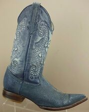 Jar Boots Blue Stingray Distressed Leather Cowboy Western Boot Mens 11 US/MEX 29