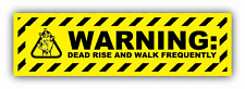 "Warning Zombie Sign Dead Rise Car Bumper Sticker Decal 8"" x 3"""